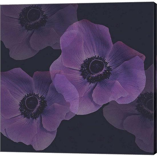 Metaverse Art Purple Anemones I Gallery Wrap Canvas Wall Art