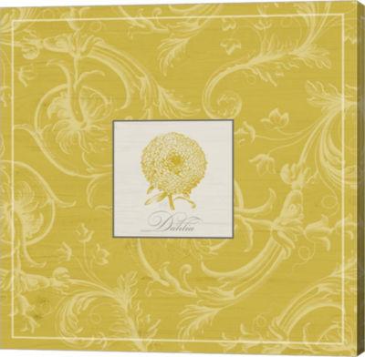 Metaverse Art Golden Dahlias III Gallery Wrap Canvas Wall Art