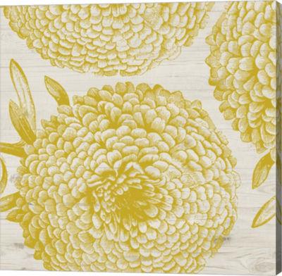 Metaverse Art Golden Dahlias II Gallery Wrap Canvas Wall Art