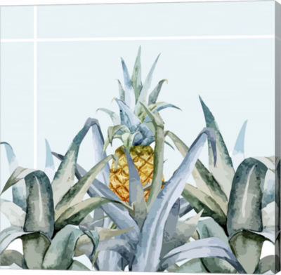 Metaverse Art Tropical Filing Gallery Wrap CanvasWall Art