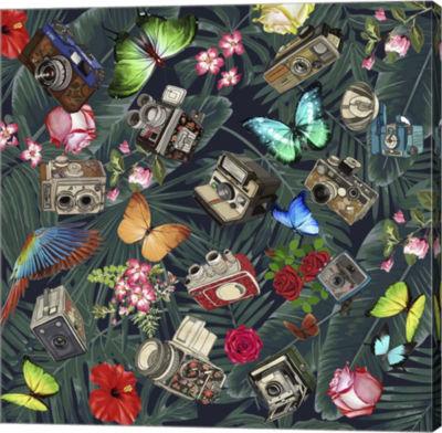 Metaverse Art Tropic Fun Vintage Gallery Wrap Canvas Wall Art