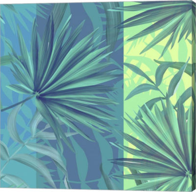 Metaverse Art Tropical Leaves Gallery Wrap Canvas wall Art