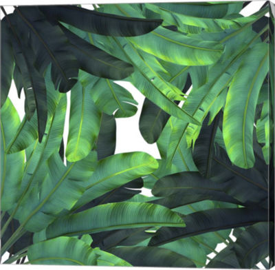 Metaverse Art Green Tropical Gallery Wrap Canvas Wall Art