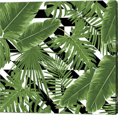 Metaverse Art Geometric Tropical Gallery Wrap Canvas Wall Art