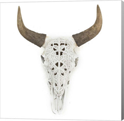 Metaverse Art Ox Skull Gallery Wrap Canvas Wall Art