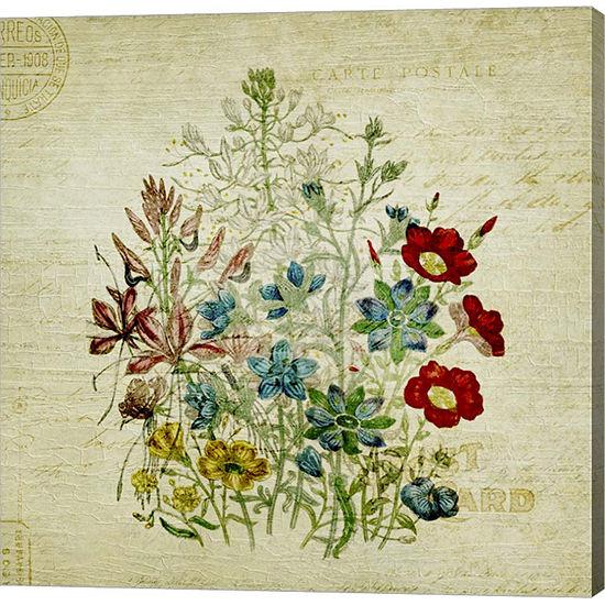 Metaverse Art Flower Print Two Gallery Wrap CanvasWall Art