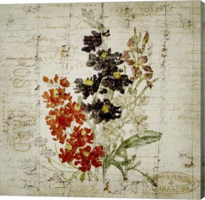 Metaverse Art Flower Print Grunge Three Gallery Wrap Canvas Wall Art
