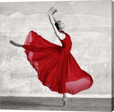 Metaverse Art Ballerina in Red (detail) Gallery Wrap Canvas Wall Art