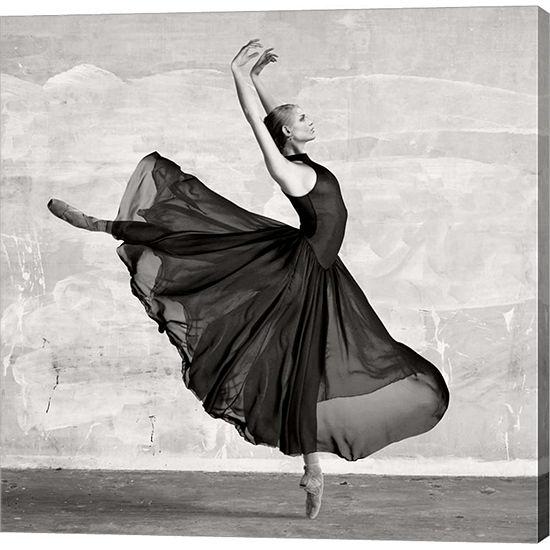 Metaverse Art Ballerina Dancing (detail) Gallery Wrap Canvas Wall Art