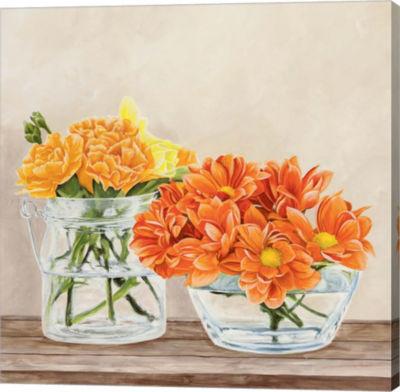 Metaverse Art Fleurs et Vases Jaune II Gallery Wrap Canvas Wall Art