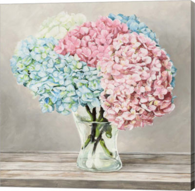 Metaverse Art Fleurs et Vases Blanc II Gallery Wrap Canvas Wall Art