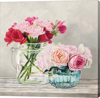 Metaverse Art Fleurs et Vases Blanc I Gallery Wrap Canvas Wall Art