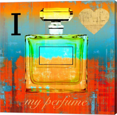 Metaverse Art I Love my Perfume Gallery Wrap Canvas Wall Art