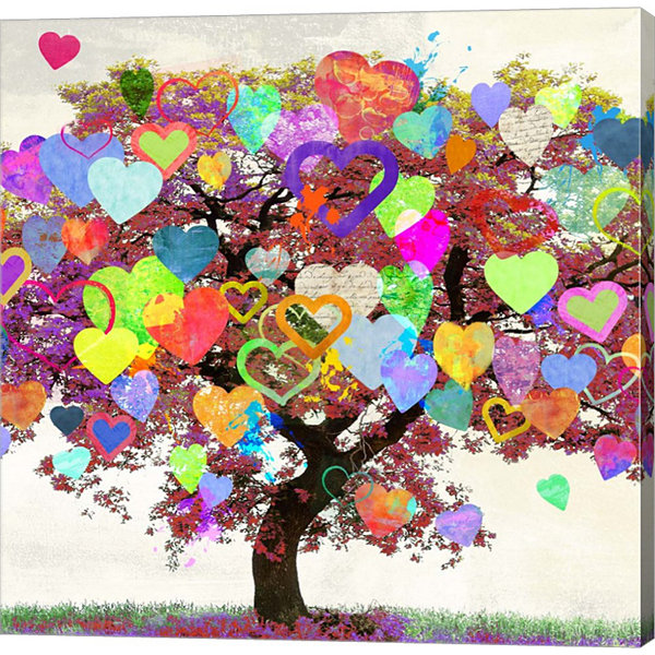 Metaverse Art Tree of Love (detail) Gallery Wrap Canvas Wall Art