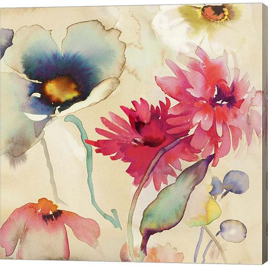Metaverse Art Floral Fireworks II Gallery Wrap Canvas Wall Art