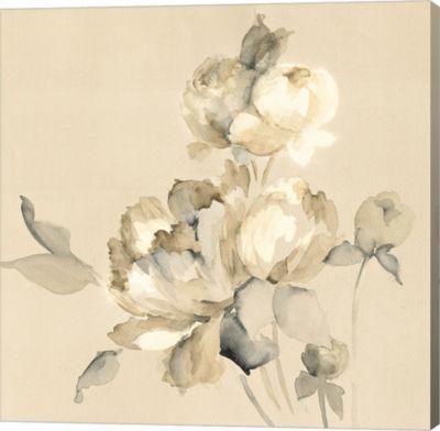 Metaverse Art Peony Blossoms Crop Gallery Wrap Canvas Wall Art