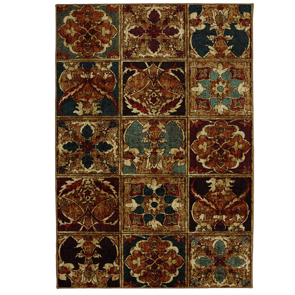 Mohawk Home New Wave Vintage Woodblock Printed Rectangular Rugs