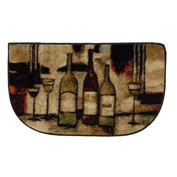 Mohawk Home New Wave Wine And Glasses Printed Wedge Rugs