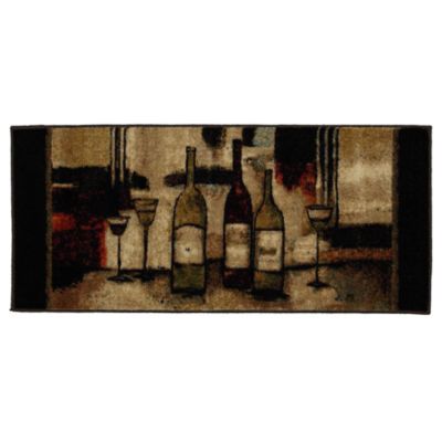 Mohawk Home New Wave Wine And Glasses Printed Rectangular Rugs