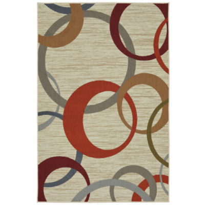Mohawk Home Soho Picturale Rainbow Printed Rectangular Indoor Accent Rug
