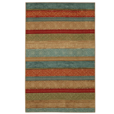 Mohawk Home Soho Samsun Batik Stripe Printed Rectangular Rugs