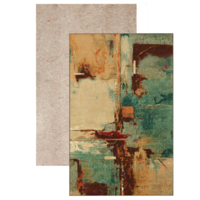 Mohawk Home Strata Aqua Fusion Printed Rectangular 2-pc. Rug Set