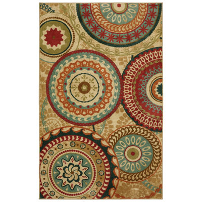 Mohawk Home Aurora Forest Suzani Rectangular Indoor Rugs