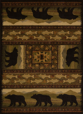 United Weavers Affinity Collection Black Bears Rectangular Rug