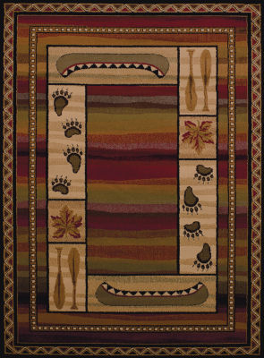 United Weavers Affinity Collection Canoe Sunset Rectangular Rug