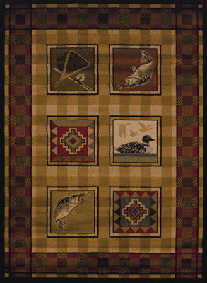United Weavers Affinity Collection Lodge Stamp Rectangular Rug