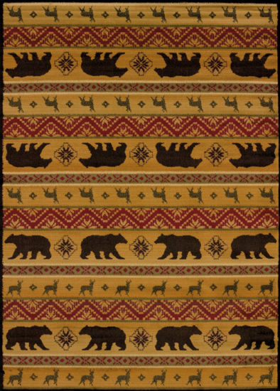 United Weavers Affinity Collection Nordic Bear Rectangular Rug