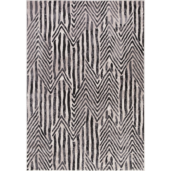 Concord Global Trading Lara Collection Dancing Stripes Area Rug