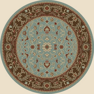 Concord Global Trading Chester Collection Flora Round Area Rug