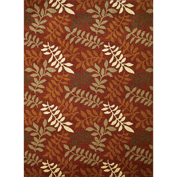Concord Global Trading Chester Collection Leafs Area Rug