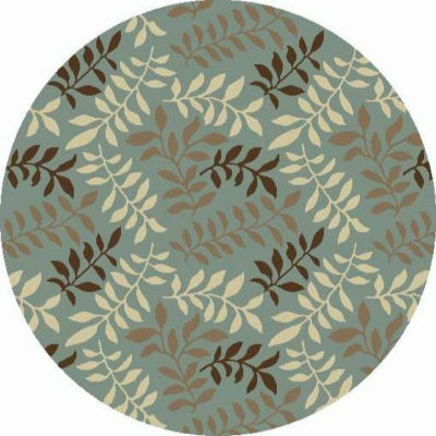 Concord Global Trading Chester Collection Leafs Round Area Rug