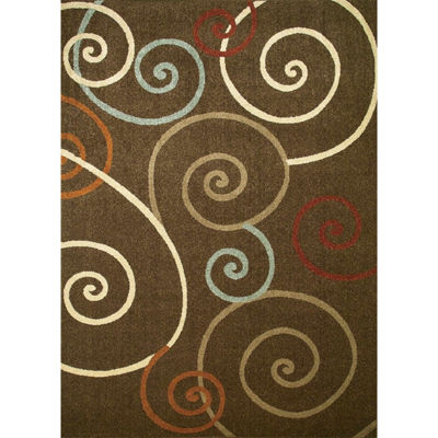 Concord Global Trading Chester Collection Scroll Area Rug