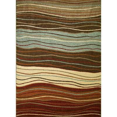 Concord Global Trading Chester Collection Waves Multi Area Rug