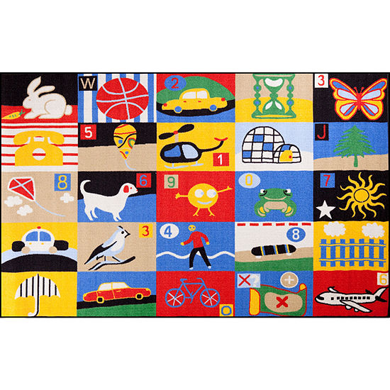 Concord Global Trading Fun Time Collection Every Day Multi Area Rug