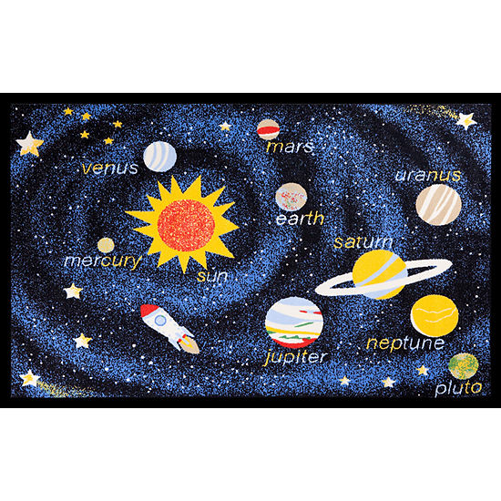 Concord Global Trading Fun Time Collection Outer Space Area Rug