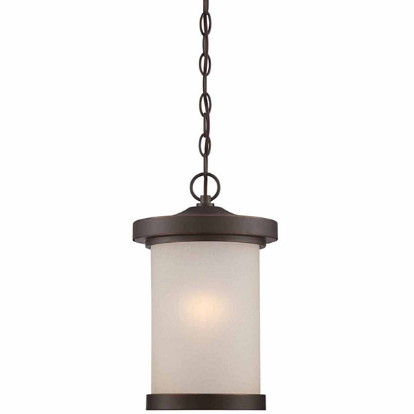 Filament Design 1-Light Mahogany Bronze Outdoor Hanging Lantern