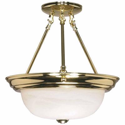 Filament Design 2-Light Polished Brass Semi-FlushMount