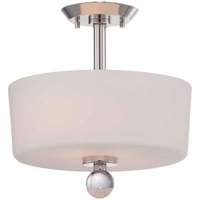 Filament Design 2-Light Polished Nickel Semi-FlushMount