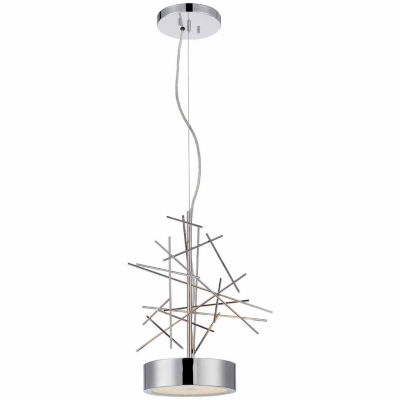 Filament Design 2-Light Polished Nickel Pendant