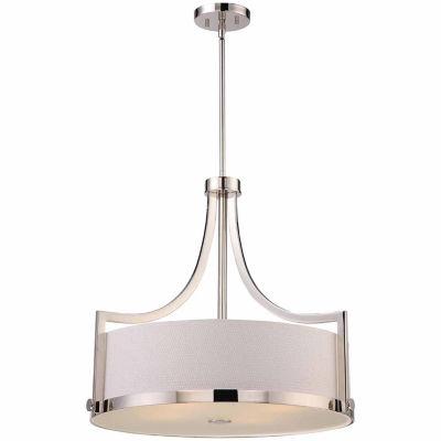Filament Design 4-Light Polished Nickel Pendant