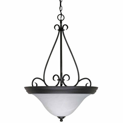 Filament Design 3-Light Textured Black Pendant