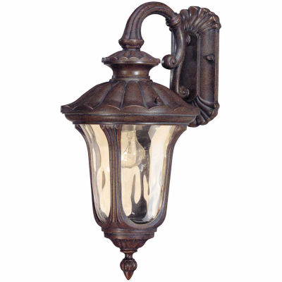 Filament Design 1-Light Fruitwood Amber Outdoor Wall Sconce