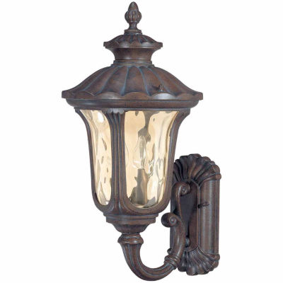 Filament Design 2-Light Fruitwood Outdoor Wall Sconce