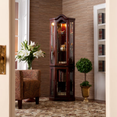 Southlake Furniture Lighted Corner Curio Cabinet