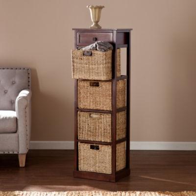 Southlake Furniture 4-Basket Storage Tower