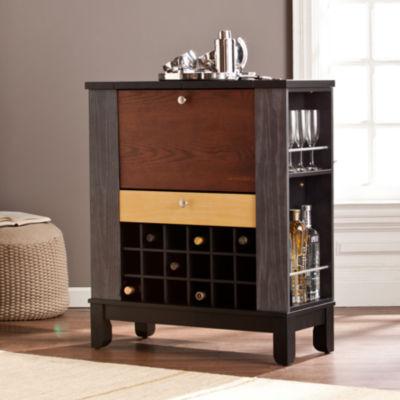 Wooden Door Kitchen Wine/Bar Cabinet